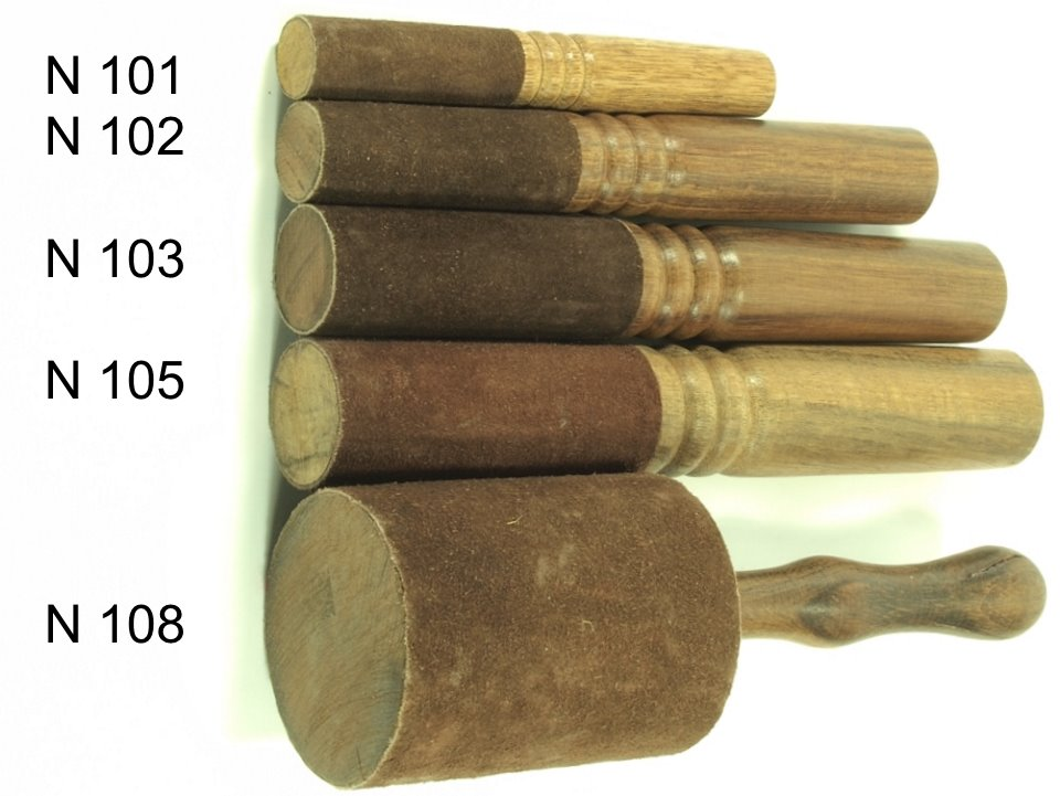 Medium Leather Wrapped Ringing Stick for singing bowls