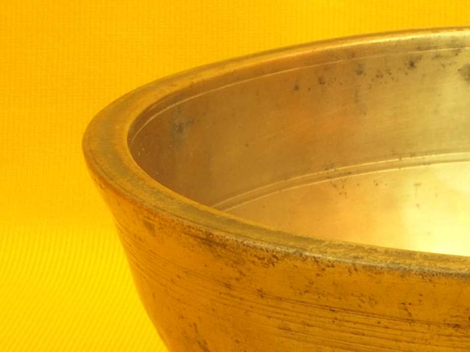 Rare XX thick Antique Manipuri Singing Bowl with sweet rich sound