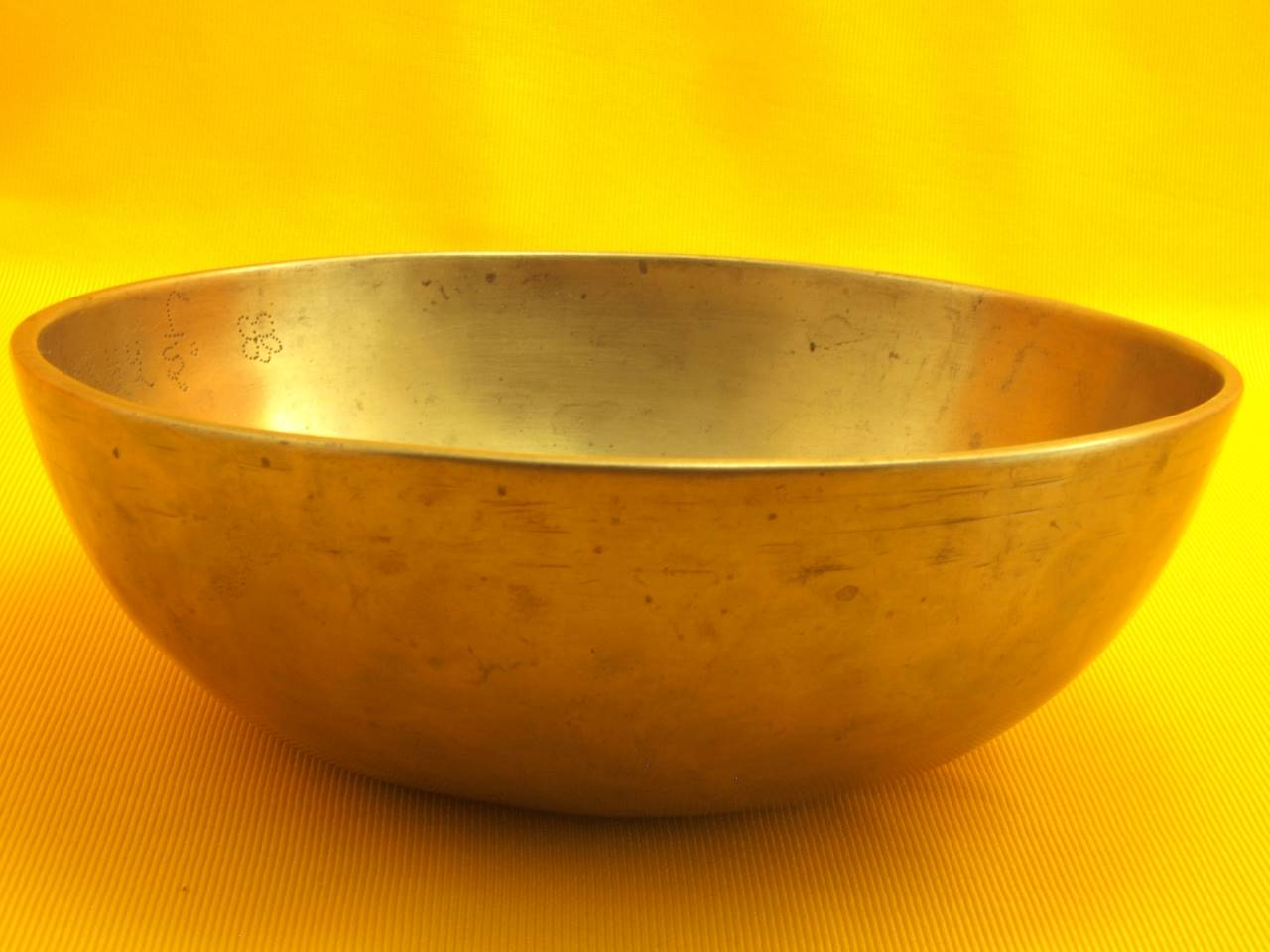 Antique Manipuri Singing Bowl with Rare Date Inscription - 1865
