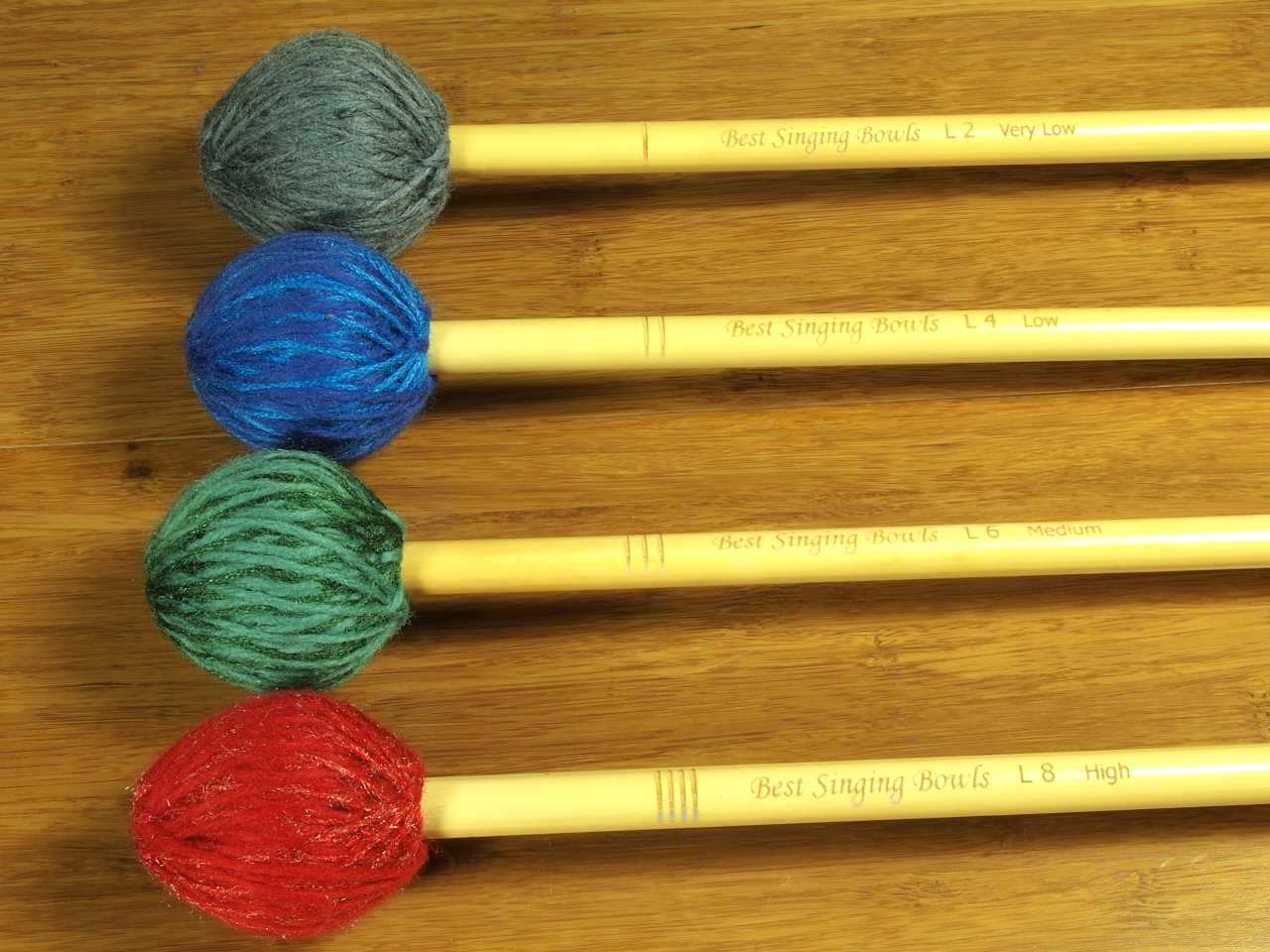 Best Singing Bowls Precision Large Red Yarn Mallet