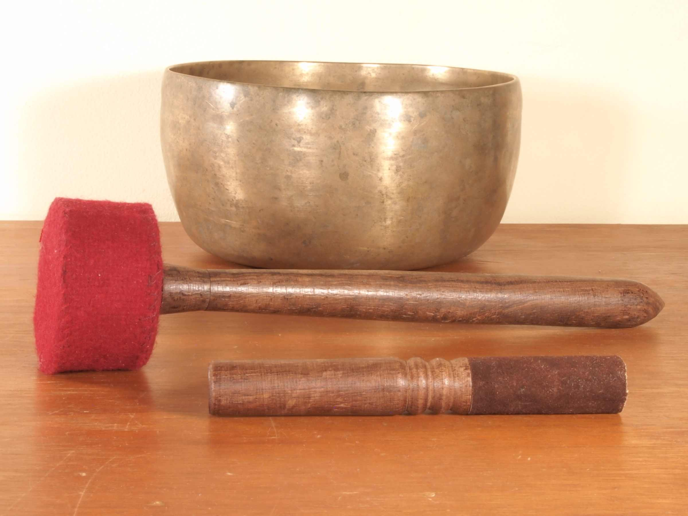 Medium Antique Singing Bowl With Ringer SPECIAL!